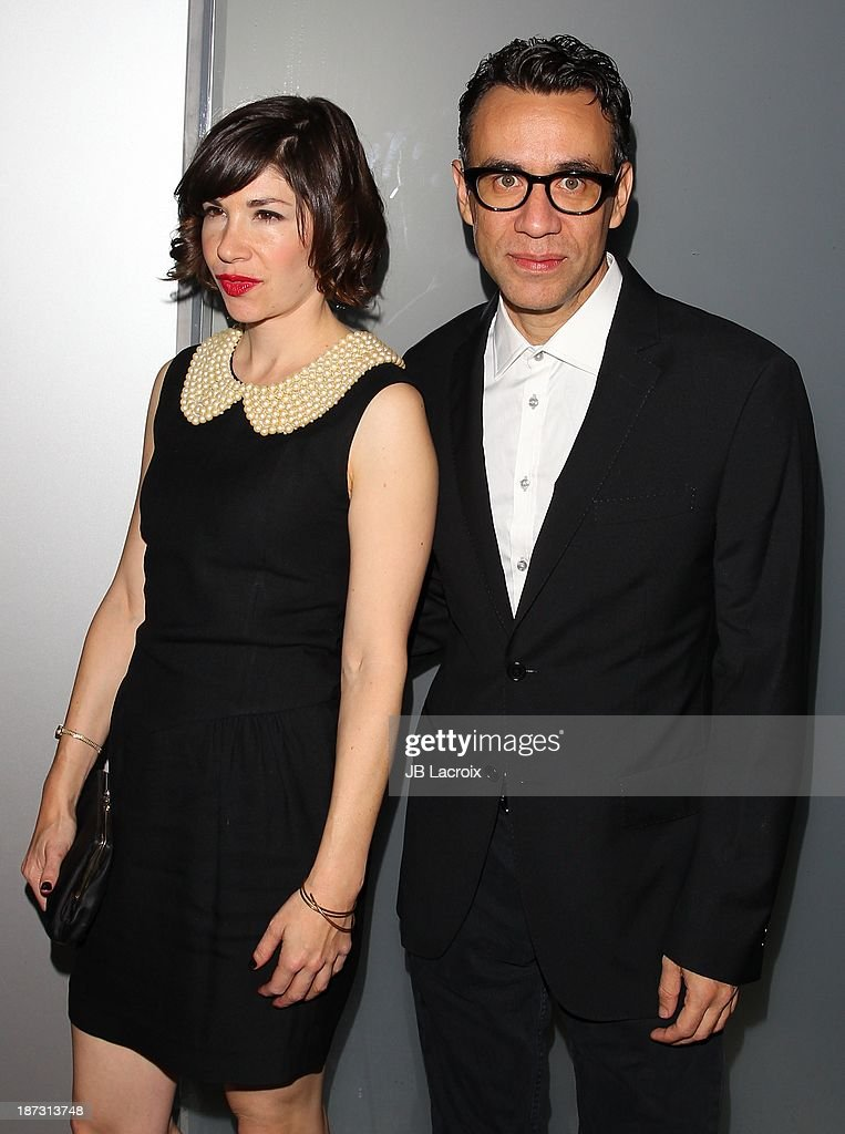 Carrie Brownstein and Fred Armisen attend the Flaunt Magazine Issue Party with Selena Gomez And Amanda De Cadenet held at Hakkasan Beverly Hills on November 7, 2013 in Beverly Hills, California.
