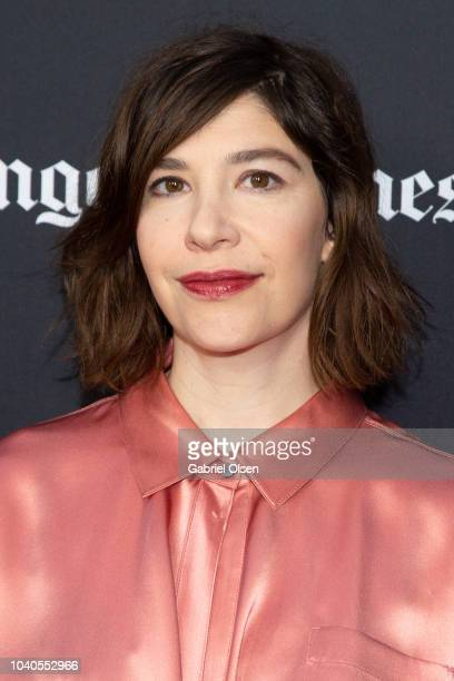Carrie Brownstein arrives at the 2018 LA Film Festival Gala Screening of 'The Oath' at ArcLight Hollywood on September 25 2018 in Hollywood California