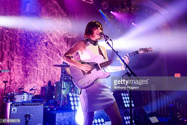 Carrie Brownstein of SleaterKinney perform on stage at Crystal Ballroom on May 5 2015 in Portland Oregon
