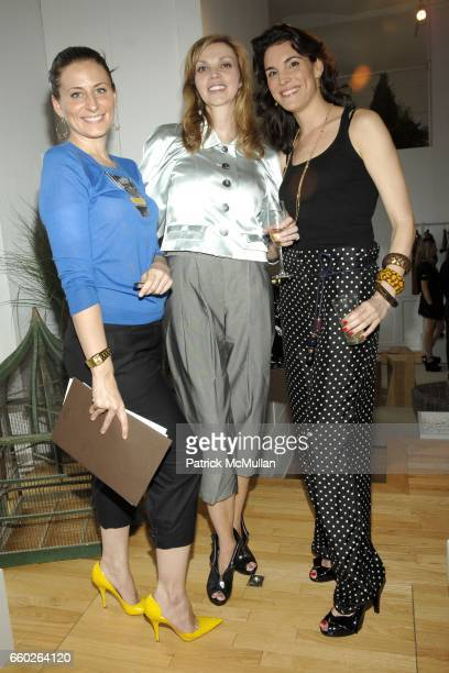 Carrie Caldwell Cheryl Pascal and Amy Erbesfeld attend LOUIS VUITTON CRUISE 2010 COLLECTION PREVIEW at 463 West Street Penthouse on June 18 2009 in...