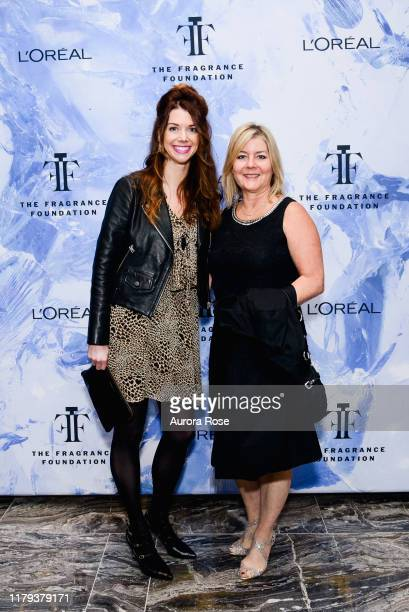 Carrie Campbell and Laura Park attend The Fragrance Foundation Circle Of Champions Honoring Carol Hamilton at The Onyx Room at The Park Hyatt New...