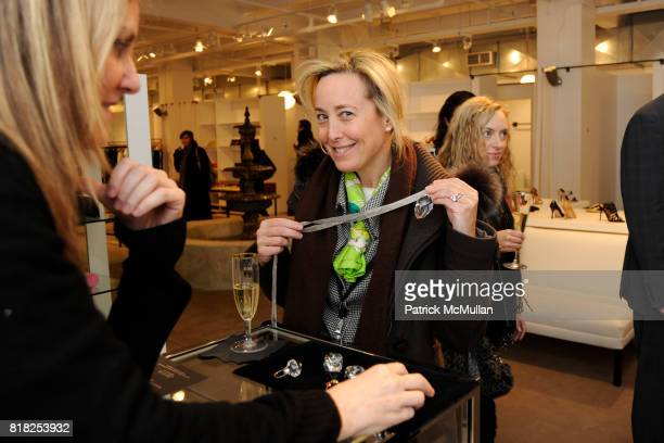 Carrie Coolidge attends JEFFREY New York and BACCARAT host the Launch of Bouchons De Carafe by Elie Top for BACCARAT at Jeffrey on February 17 2010...