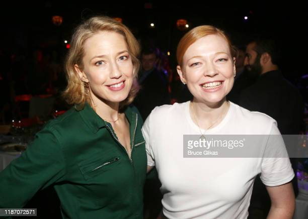 Carrie Coon and Sarah Snook pose at the 2019 SPACE on Ryder Farm Gala at The Caldwell Factory on November 11 2019 in New York City