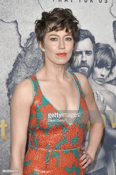 Carrie Coon attends the Premiere of HBO's The Leftovers Season 3 Arrivals at Avalon Hollywood on April 4 2017 in Los Angeles California