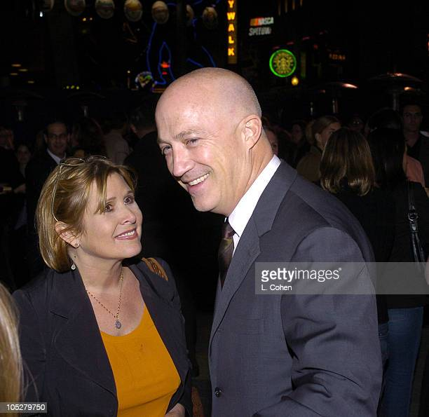 Carrie Fisher and Bryan Lourd of CAA during Connie and Carla World Premiere After Party at Universal Studios Cinema in Universal City California...