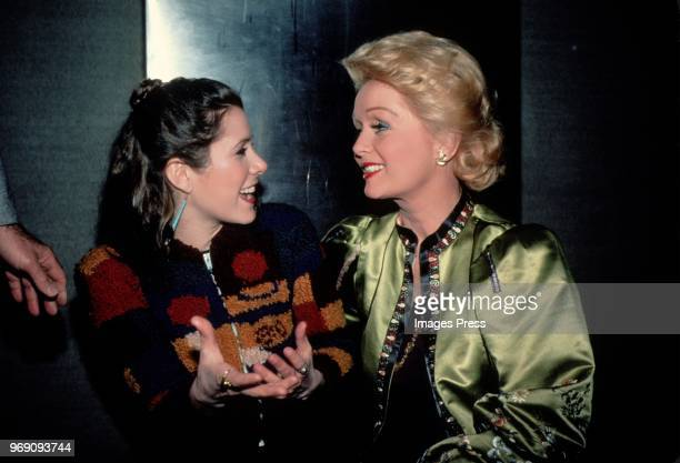 Carrie Fisher and Debbie Reynolds circa 1983 in New York City