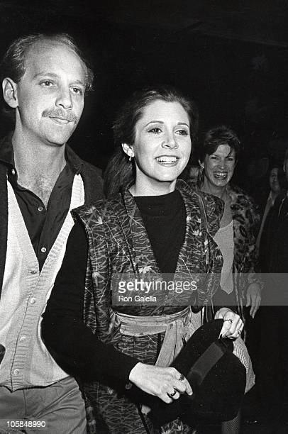 Carrie Fisher and guest during John Belushi Second City Scholarship Fund For Performing Arts at Huntinton Hartford Theater in Hollywood California...
