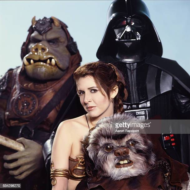 Carrie Fisher and some Star Wars friends 'Return of the Jedi'