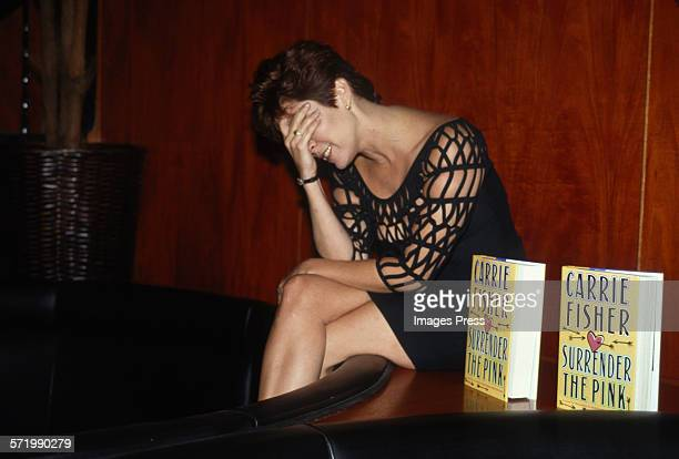 Carrie Fisher attends Book Party for Surrender The Pink by Carrie Fisher circa 1990 in New York City