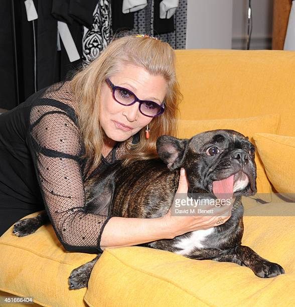 Carrie Fisher attends Marina Rinaldi launch of new atelier on July 3 2014 in London England