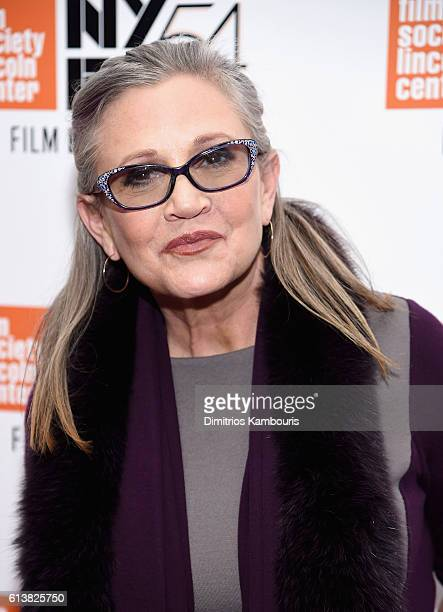 Carrie Fisher attends the 54th New York Film Festival 'Bright Lights' Photo Cal on October 10 2016 in New York City