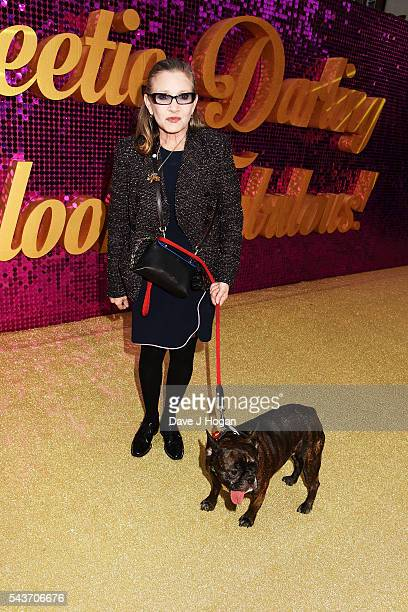 Carrie Fisher attends the World Premiere of 'Absolutely Fabulous The Movie' at Odeon Leicester Square on June 29 2016 in London England