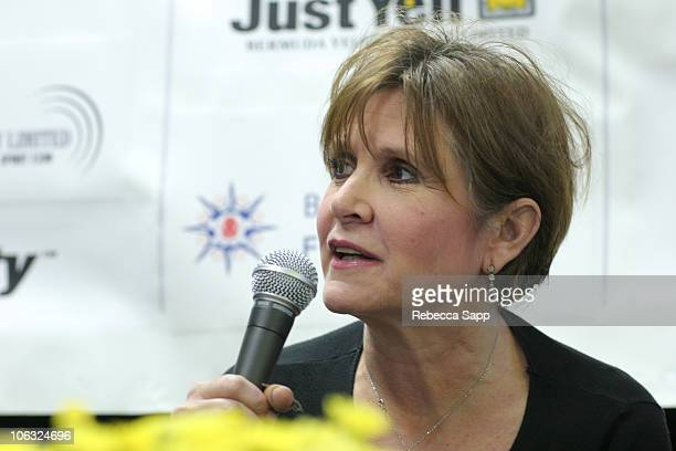 Carrie Fisher during 10th Annual Bermuda International Film Festival - Tales From Hollywood at Front Room in Hamilton, Bermuda.