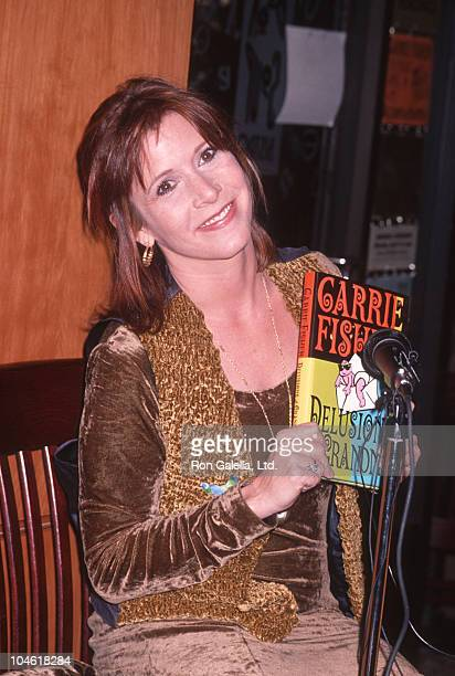 Carrie Fisher during Carrie Fisher Book Signing for her book Delusions Grandma at Book Soup in Los Angeles California United States