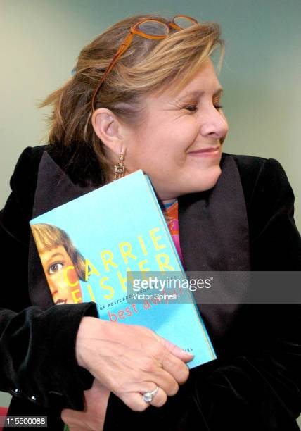 Carrie Fisher during Carrie Fisher Book Signing Of Her New Novel The Best Awful at Beverly Hills Public Library in Beverly Hills CA United States