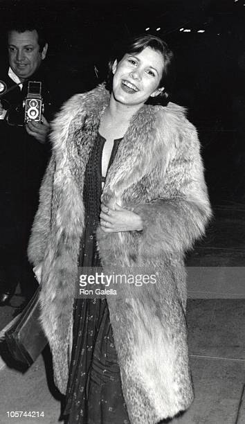 Carrie Fisher during Carrie Fisher Sighting at Chasen's Restaurant in Beverly Hills April 8 1975 at Chasen's Restaurant in Beverly Hills California...