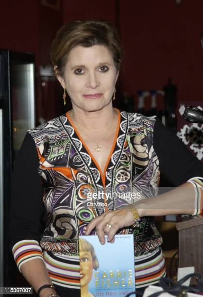 Carrie Fisher during Carrie Fisher Signs Copies of her New Book 'The Best Awful' at Coliseum Books in New York City New York United States