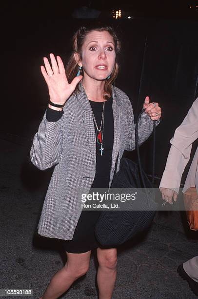 Carrie Fisher during 'Renaissance Man' Hollywood Premiere at Cinerama Dome Theater in Hollywood California United States