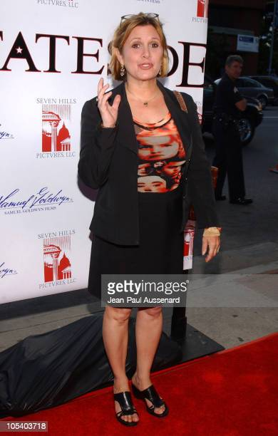 Carrie Fisher during 'Stateside' Los Angeles Premiere Arrivals at The Crest Theatre in Westwood California United States
