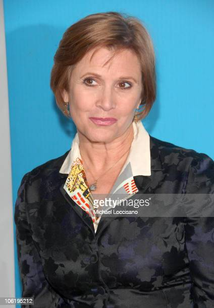 Carrie Fisher during The 2007/2008 Fox Upfronts Arrivals at Wollman Rink Central Park in New York City New York United States