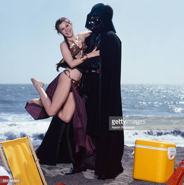 Carrie Fisher on the beach Golden Gate National Recreation Area California USA