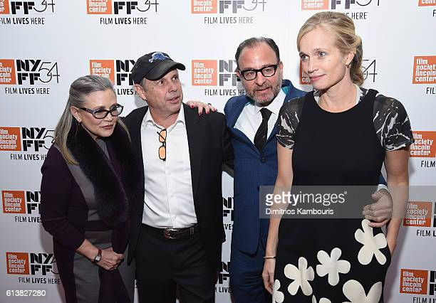 Carrie Fisher Todd Fisher Fisher Stevens and director Alexis Bloom attend the 54th New York Film Festival 'Bright Lights' Photo Cal on October 10...