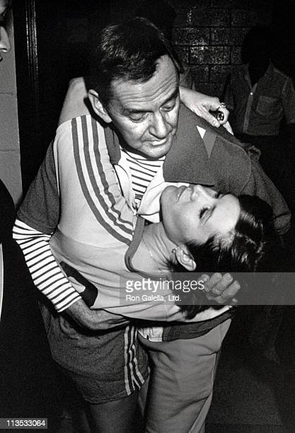 Carrie Fisher Tony Randall during Celebrity Volleyball Basketball games Benefitting the Franciscan Sisters of the Poor at Felt Forum in New York City...