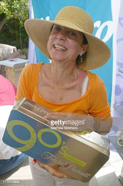 Carrie Frazier with Trivial Pursuit during Hasbro at the Silver Spoon Hollywood Buffet Day One at Private Estate in Los Angeles California United...