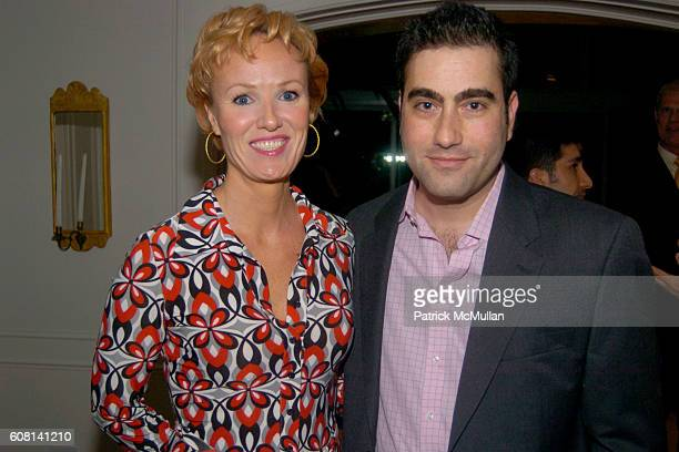 Carrie Furlong and Peter Tarulli attend MICHAEL S SMITH AGRARIA COLLECTION LAUNCH at Lowell Hotel on April 18 2007