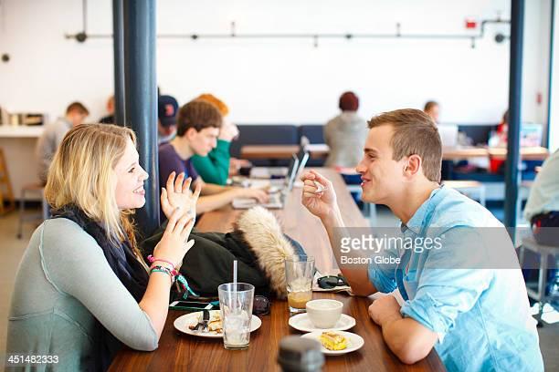 Carrie Gershoff and Bradley Balandis both Tufts University students enjoyed brunch at Tamper Cafe in Medford Mass on Saturday November 16 2013