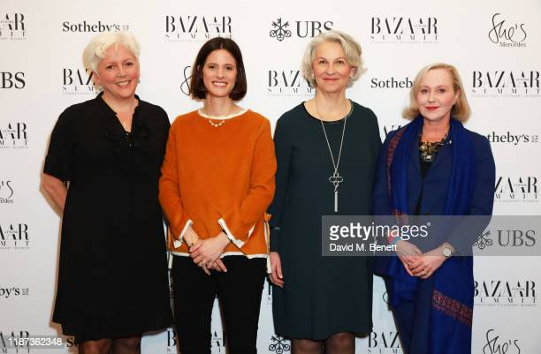 Carrie Gracie Emilie Bellet Diana Chambers Eva Lindholm attend the Harper's Bazaar at Work Summit in partnership with UBS on November 13 2019 in...