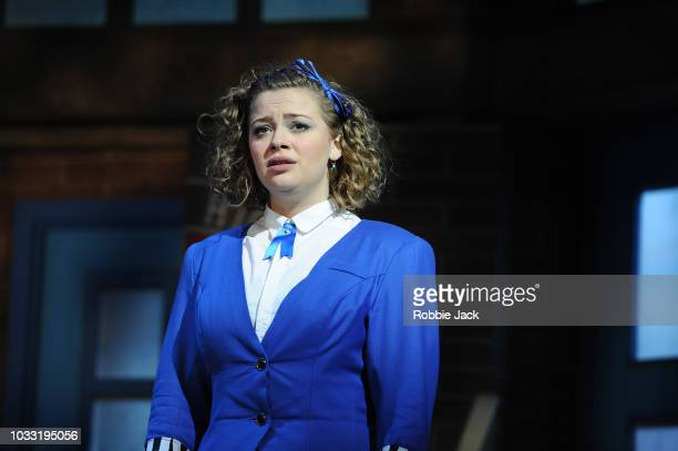 Carrie Hope Fletcher as Veronica Sawyer in the stage production Heathers The Musical directed by Andy Fickman at Theatre Royal Haymarket on September...