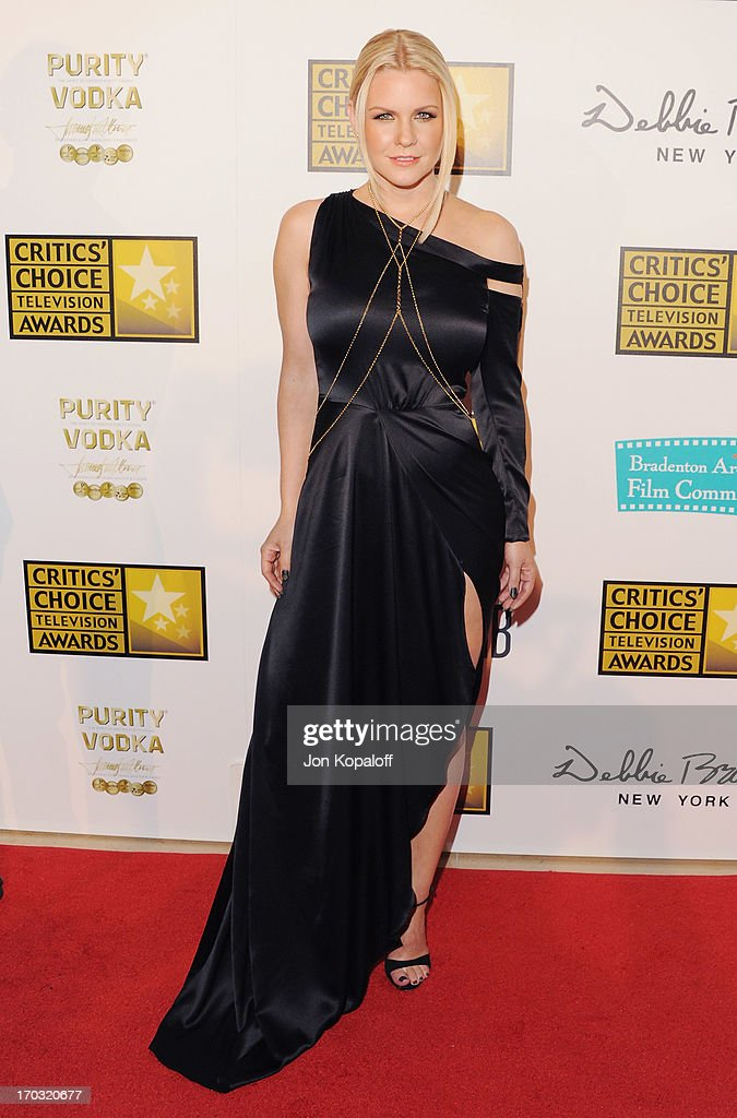 Carrie Keagan arrives at the BTJA Critics' Choice Television Award at The Beverly Hilton Hotel on June 10, 2013 in Beverly Hills, California.