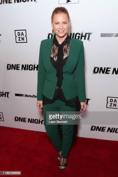 Carrie Keagan attends Premiere Of One Night Joshua Vs Ruiz at Writers Guild Theater on November 21 2019 in Beverly Hills California