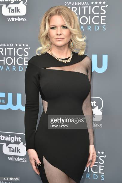 Carrie Keagan attends The 23rd Annual Critics' Choice Awards Arrivals at The Barker Hanger on January 11 2018 in Santa Monica California