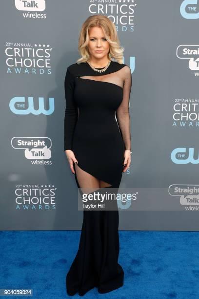 Carrie Keagan attends the 23rd Annual Critics' Choice Awards at Barker Hangar on January 11 2018 in Santa Monica California