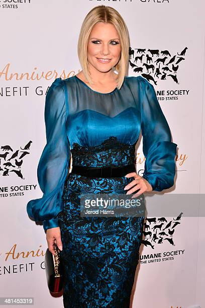 Carrie Keagan attends the Humane Society of the United States 60th Anniversary Benefit Gala at The Beverly Hilton Hotel on March 29 2014 in Beverly...