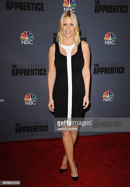 Carrie Keagan attends the press junket For NBC's 'Celebrity Apprentice' at The Fairmont Miramar Hotel Bungalows on January 28 2016 in Santa Monica...