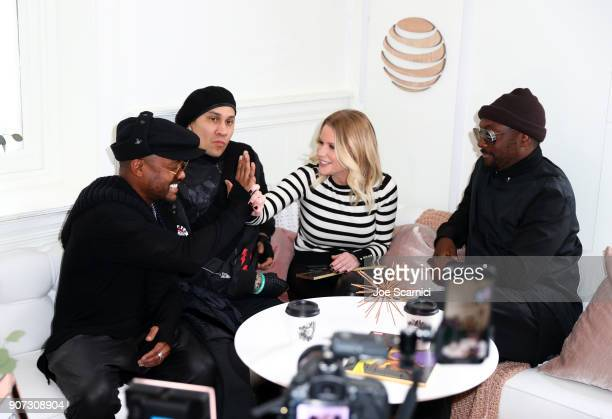 Carrie Keagan interviews apldeap Taboo and william of Black Eyed Peas stop by DIRECTV Lodge presented by ATT during Sundance Film Festival 2018 on...