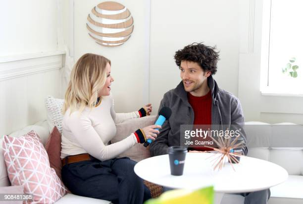 Carrie Keagan interviews Colin Morgan at the DIRECTV Lodge presented by ATT during Sundance Film Festival 2018 on January 21 2018 in Park City Utah