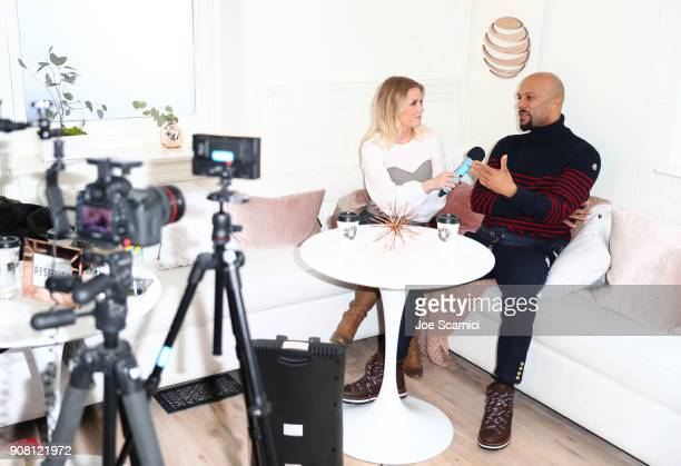Carrie Keagan interviews Common at DIRECTV Lodge presented by ATT during Sundance Film Festival 2018 on January 20 2018 in Park City Utah