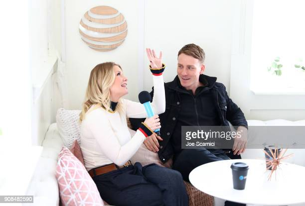 Carrie Keagan interviews Edwin Thomas at the DIRECTV Lodge presented by ATT during Sundance Film Festival 2018 on January 21 2018 in Park City Utah