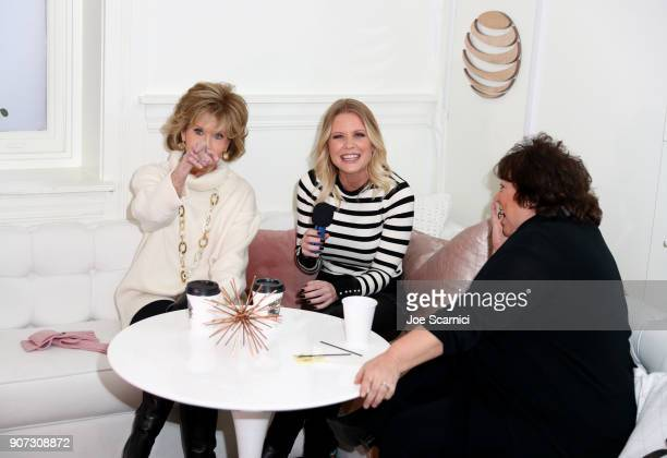 Carrie Keagan interviews Jane Fonda and Susan Lacy at DIRECTV Lodge presented by ATT during Sundance Film Festival 2018 on January 19 2018 in Park...