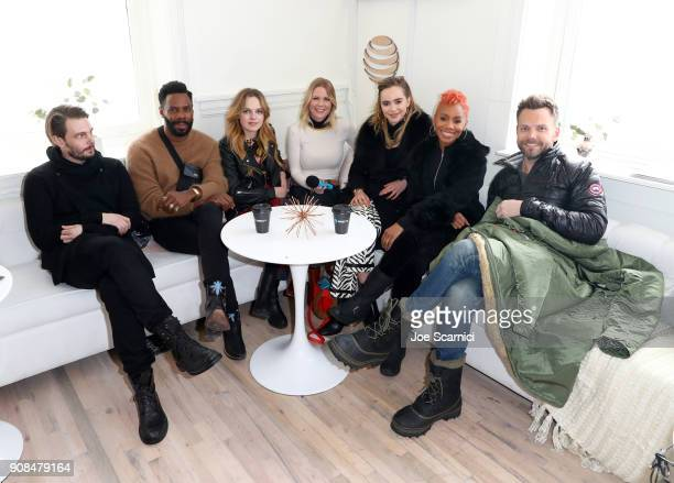 Carrie Keagan interviews Sam Levinson Colman Domingo Odessa Young Suki Waterhouse Anika Noni Rose and Joel McHale at the DIRECTV Lodge presented by...