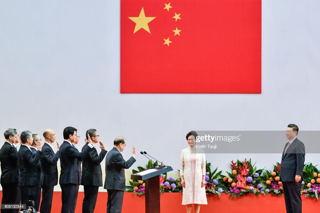 Xi Jinping Visits Hong Kong For 20th Anniversary Of The City's Handover : News Photo