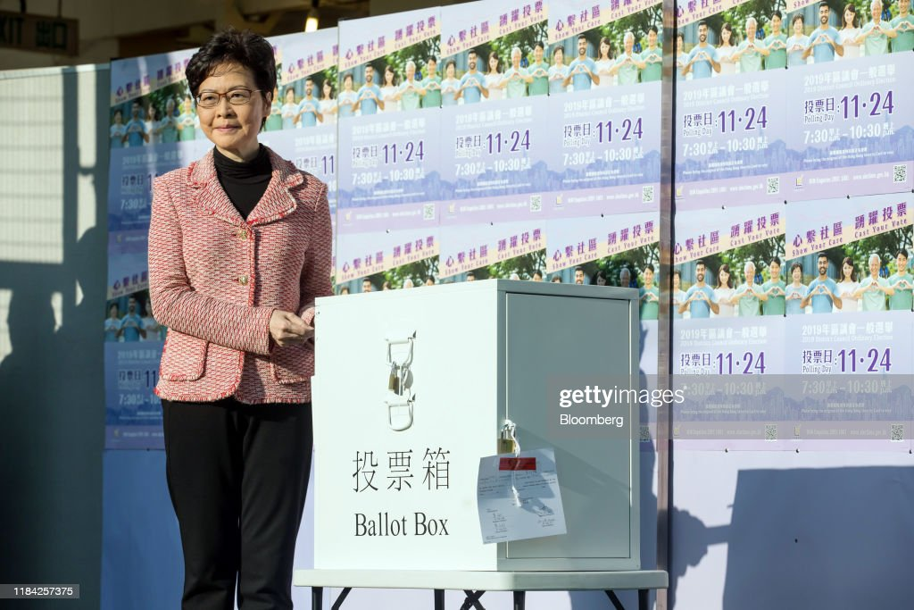 Divided Hong Kong to Hold First Vote Since Protests Began : ニュース写真