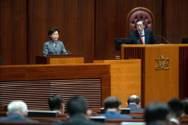CHN: Hong Kong Chief Executive Carrie Lam Q&A Session Following Policy Address