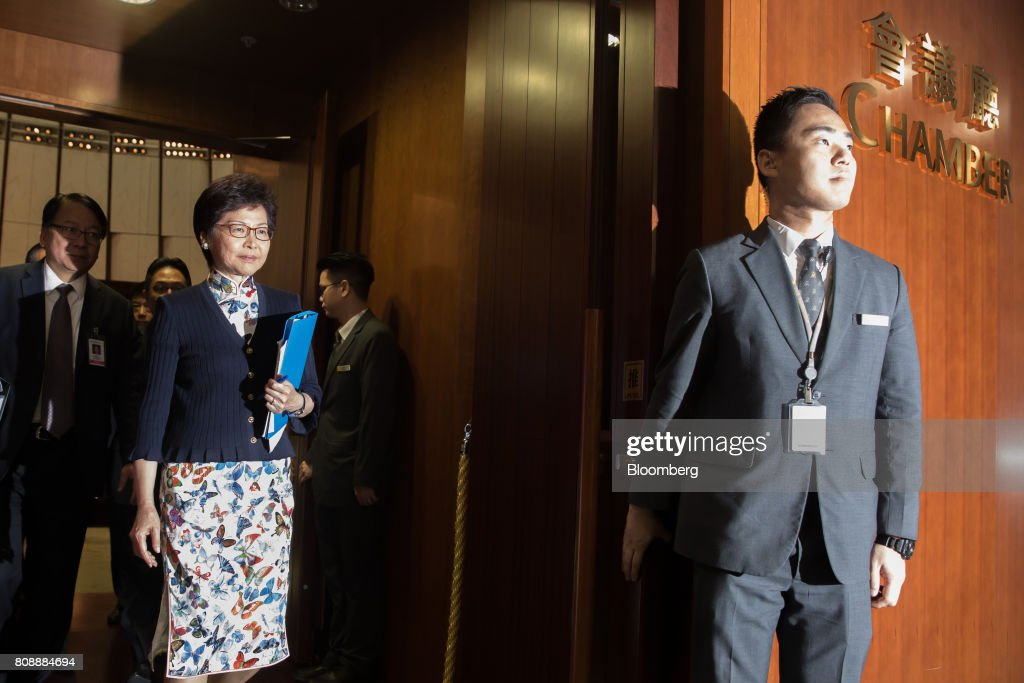 Hong Kong Chief Executive Carrie Lam Attends Question & Answer Session At Legislative Council