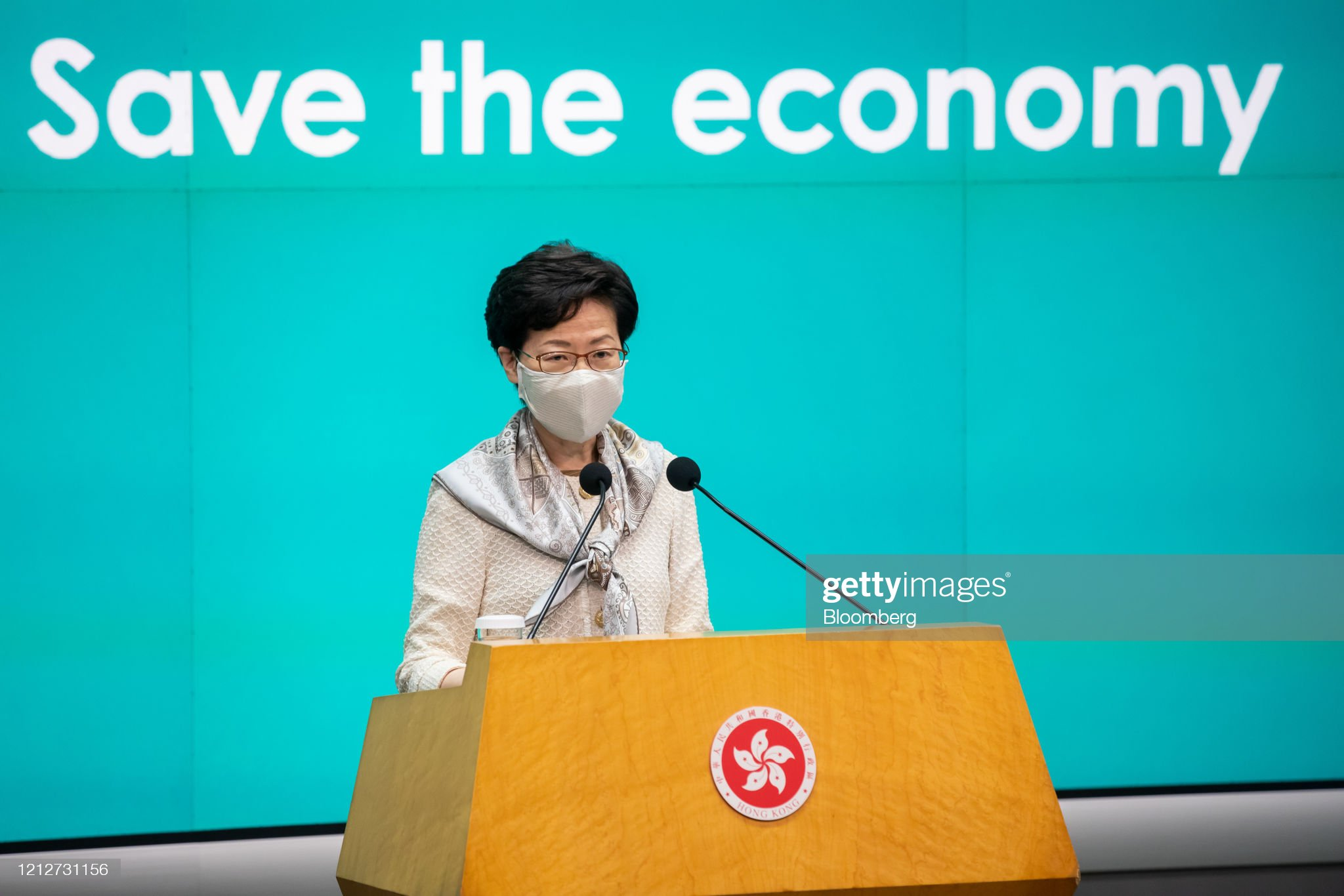 Hong Kong Chief Executive Carrie Lam News Conference : News Photo