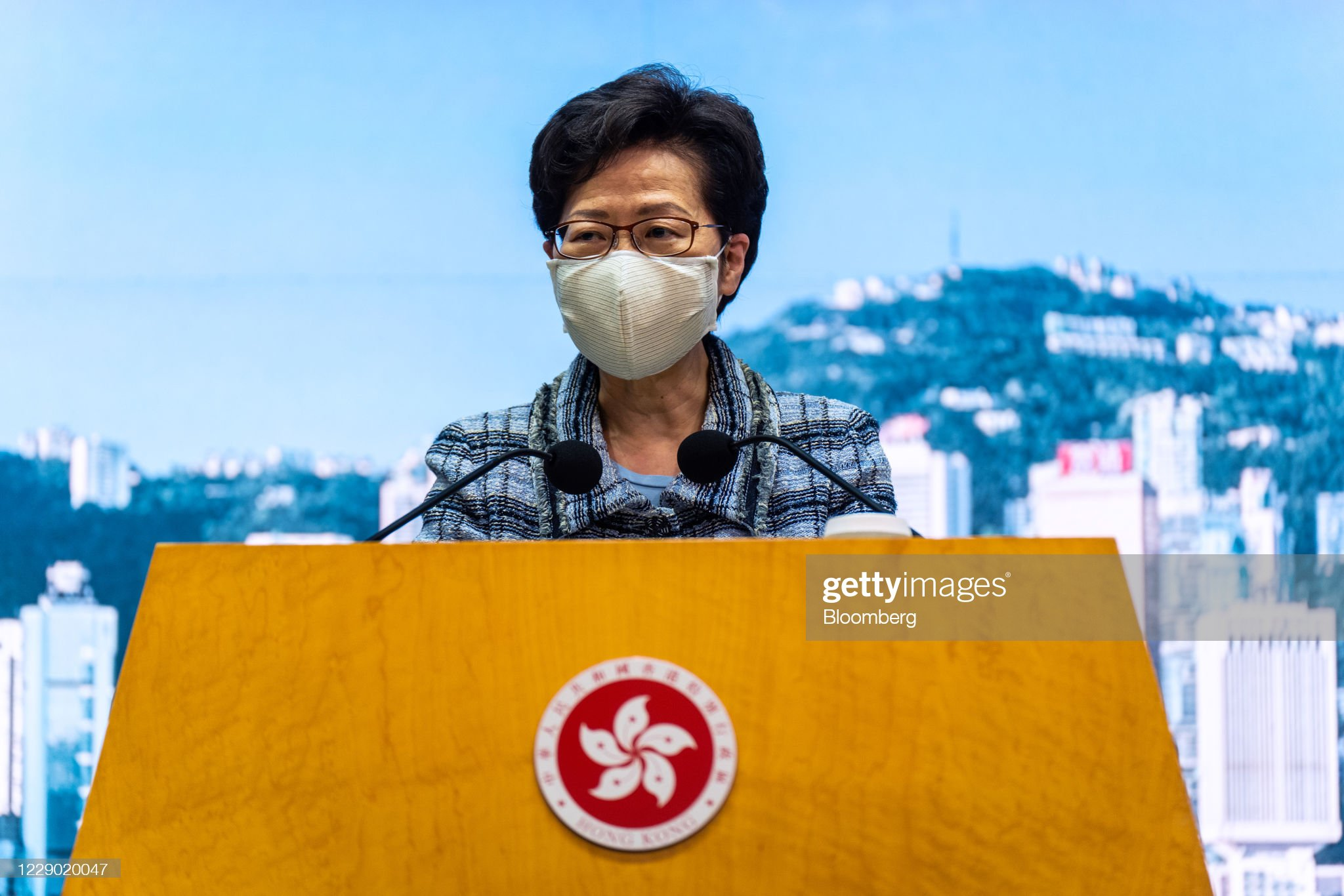 Hong Kong Leader Carrie Lam Delays Annual Policy Address : News Photo